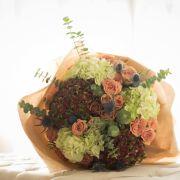 Modern Classic | Premium cappuccino Roses, Thistles, Hydrangea