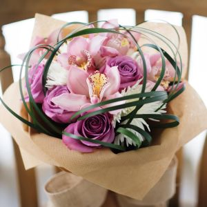 Pink Roses, Cymbidium, Chrysanthemum | Buy Flowers in Dubai UAE | Gifts | Cakes