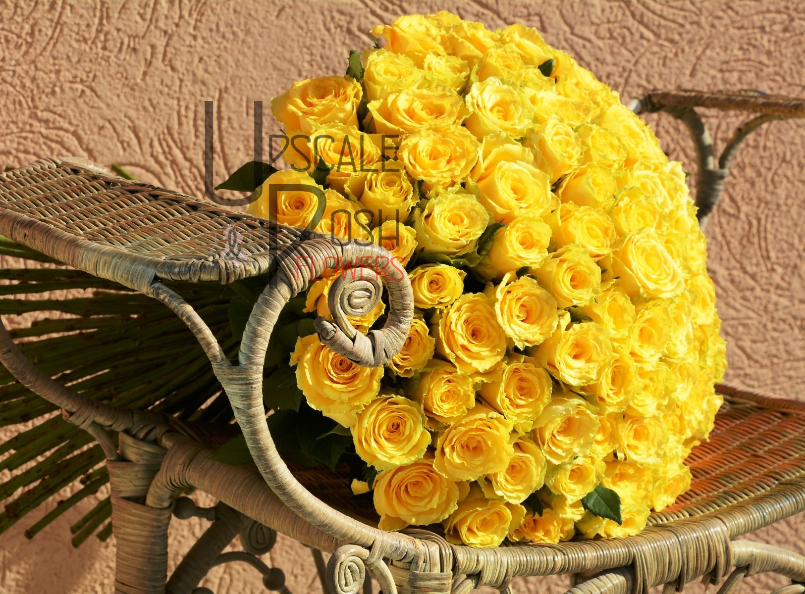 yellow rose bouquet | upscale and posh flowers