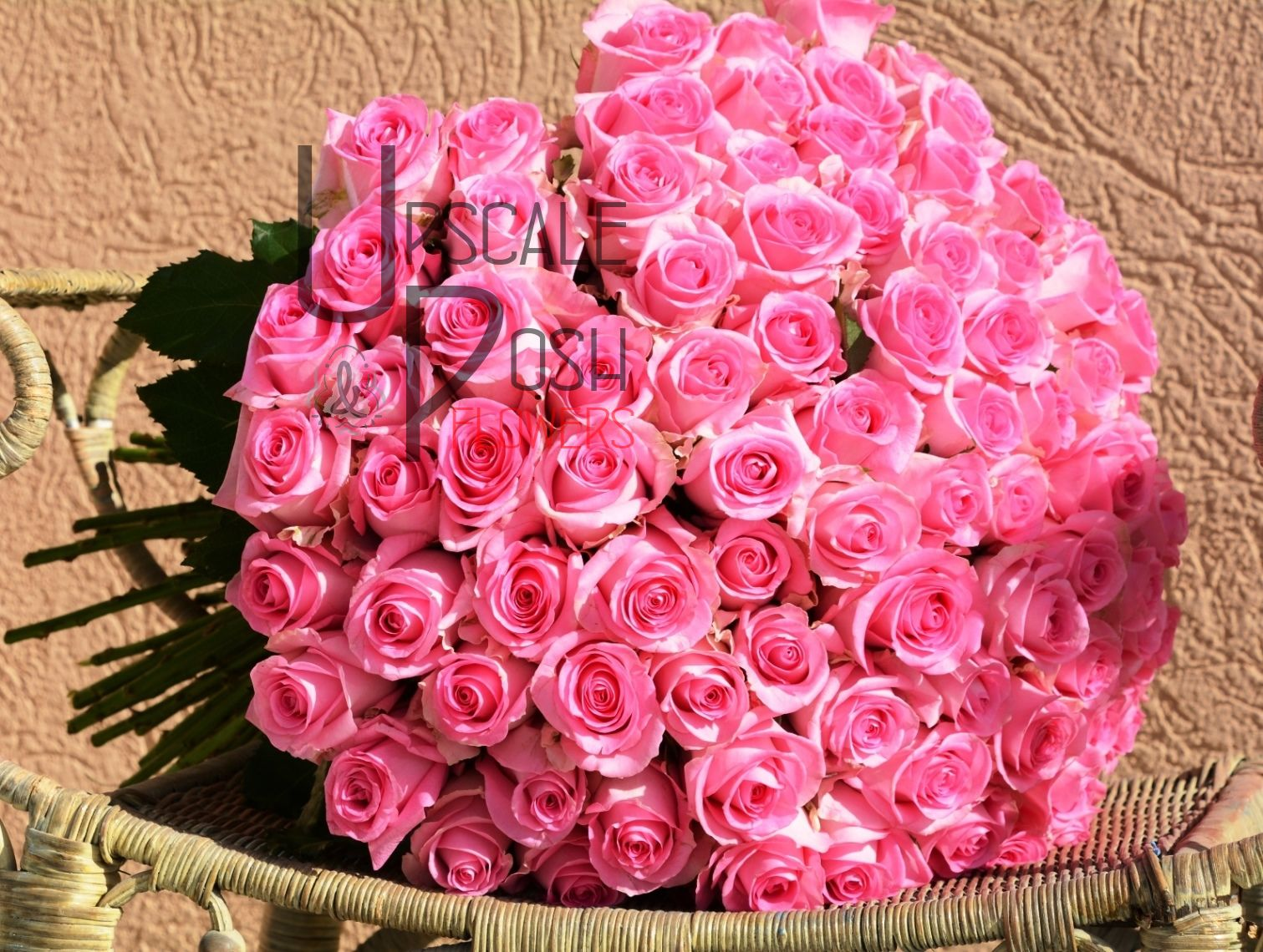 Pink Rose Bouquet | Upscale and Posh Flowers