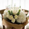 Natures Purity   White Roses, Hydrangea