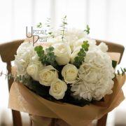 Natures Purity | White Roses, Hydrangea