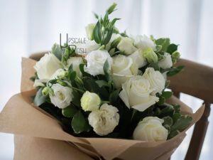 White Roses, Lisianthus | Buy Flowers in Dubai UAE | Gifts | Cakes