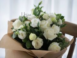 White Roses, Lisianthus | Buy Flowers in Dubai UAE | Gifts | Cakes