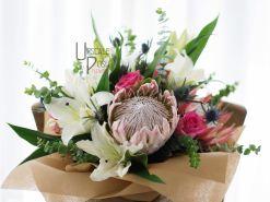 Huge Protea, Oriental Lily, Roses | Buy Flowers in Dubai UAE | Gifts | Cakes