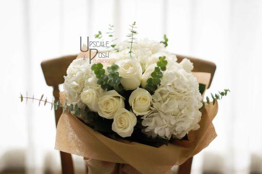 White Roses, Hydrangea | Buy Flowers in Dubai | Gifts | Cakes