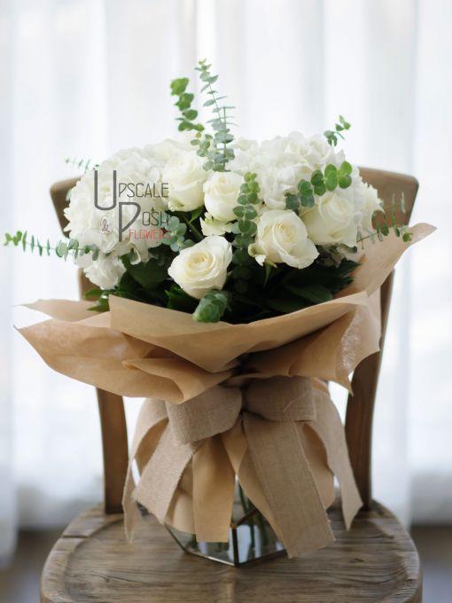 White Roses, Hydrangea | Buy Flowers in Dubai UAE | Gifts | Cakes