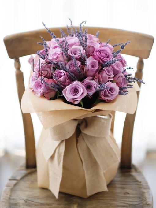 Premium pink Roses, Lavender | Buy Flowers in Dubai UAE | Gifts | Cakes
