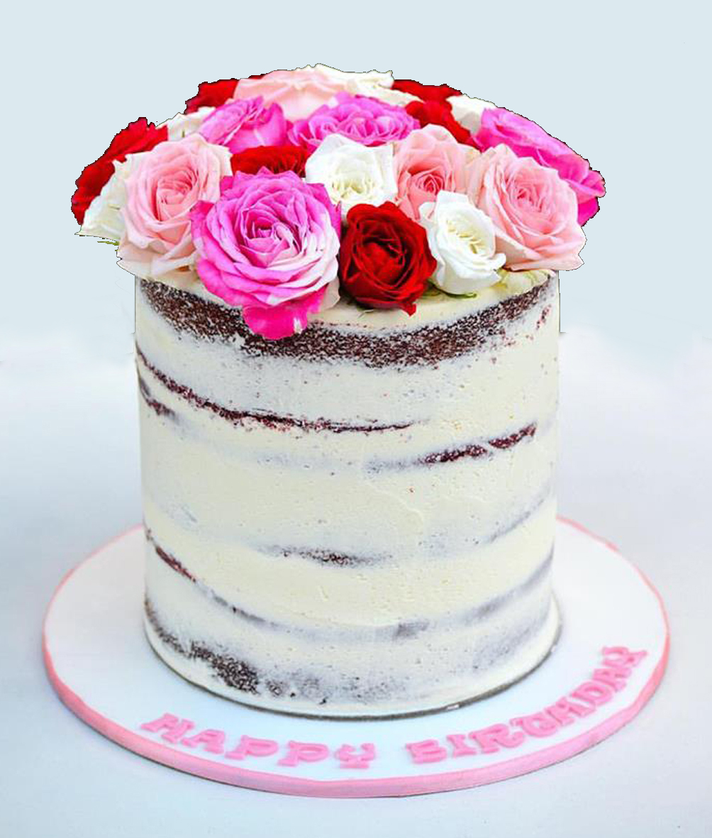 Naked Flowers Cake Gift Online Cake Delivery In Dubai And Sharja
