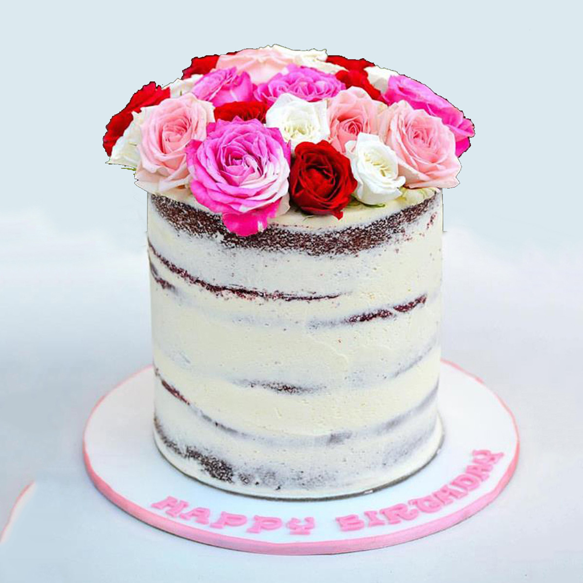 Buy Naked Flowers Cake - 1 kg and 3 kg Cake Size with