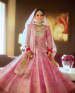 Flamingo Raw Silk Lehenga With Bugle Beads And Long Choli by Kabeer Grover Wedding-photography Wedding-dresses | Weddings Photos & Ideas