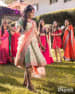 Persian Colored Knee Length Lehenga Goes Best For Mehendi by Kabeer Grover Wedding-photography Wedding-dresses | Weddings Photos & Ideas