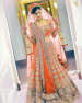 Bridal Lehenga In Orange Shade With Heavy Zardozi Work by Kabeer Grover Wedding-photography Wedding-dresses | Weddings Photos & Ideas