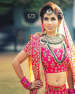 Two Piece Polki Kundan Necklace Suits Best With Bright Magenta Bridal Attire by Kabeer Grover Wedding-photography Bridal-jewellery-and-accessories | Weddings Photos & Ideas