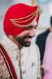 Groom Wearing Elegant Trendy Red Turban With Kilangi  Brooch by Camera Waale Baraati Wedding-photography Groom-wear-and-accessories | Weddings Photos & Ideas