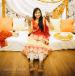 Citrus Orange And Soft Yellow Lehenga With Matching Dupatta For A Vivid Mehendi Ceremony by Ravneet Oberoi Wedding-photography Bridal-mehendi Wedding-dresses | Weddings Photos & Ideas