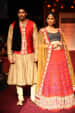Crimson Red and Gold Bride and Groom Wear by Shyamal & Bhumika Wedding-dresses Groom-wear-and-accessories   Weddings Photos & Ideas