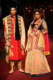 Crimson and Peach Bride and Groom Wear by Shyamal & Bhumika Wedding-dresses Groom-wear-and-accessories | Weddings Photos & Ideas