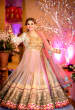 Alluring Pink And White Indo-Western Dress With Intricate Golden Motifs by Gautam Khullar Wedding-photography Wedding-dresses | Weddings Photos & Ideas