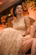 The Bride In A White And Gold Gown For Her Wedding Reception by Gautam Khullar Wedding-photography Wedding-dresses Bridal-makeup | Weddings Photos & Ideas