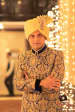Golden Shaded Turban With Gemstone Kilangi Broocj by Candid Affair Wedding-photography Groom-wear-and-accessories | Weddings Photos & Ideas