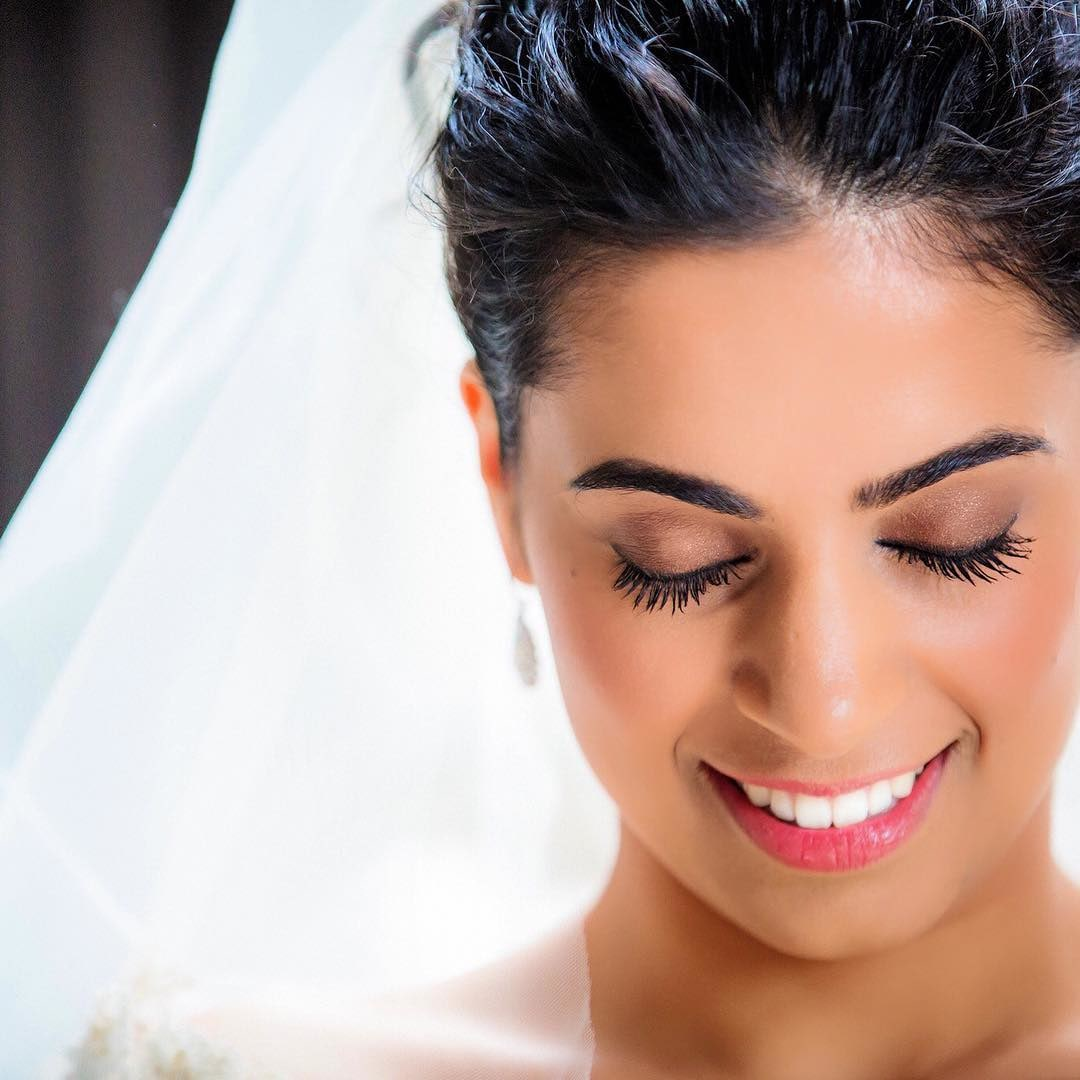 Soft Makeup On Cheeks With Bright Lips by Kabeer Grover Bridal-makeup   Weddings Photos & Ideas