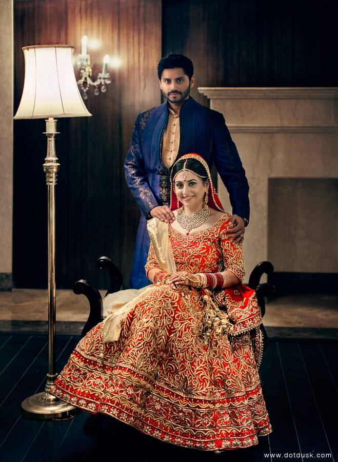 Coupe Portrait on the Wedding Day by Lakhbir & Sundeep Singh Wedding-photography Wedding-dresses | Weddings Photos & Ideas