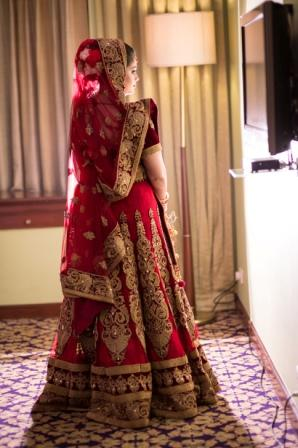 Poised Bride Wearing Crimson Lehenga! by Vidur Luthra Wedding-dresses | Weddings Photos & Ideas