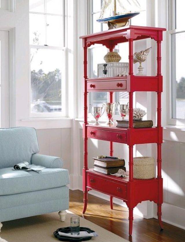 Bright red display unit! by Eutropius Design Studio Living-room | Interior Design Photos & Ideas