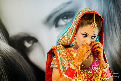 Ravishing Bride Getting Ready! by Vijay Sharma Bridal-makeup Bridal-jewellery-and-accessories | Weddings Photos & Ideas