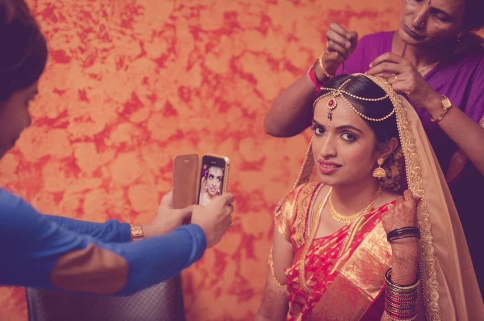 Simple South Indian Bride by Dushyantha Kumar C Wedding-photography Bridal-jewellery-and-accessories | Weddings Photos & Ideas
