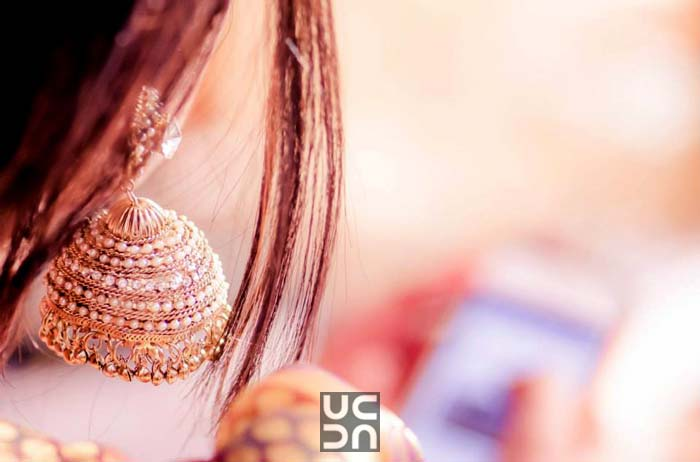 Gold And Pearls Earrings by Dushyantha Kumar C Bridal-jewellery-and-accessories | Weddings Photos & Ideas