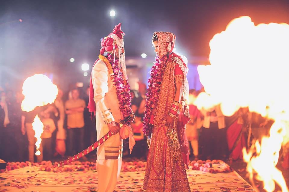 Couple In Their Wedding day by Arjun Mahajan Wedding-photography Groom-wear-and-accessories Wedding-dresses | Weddings Photos & Ideas