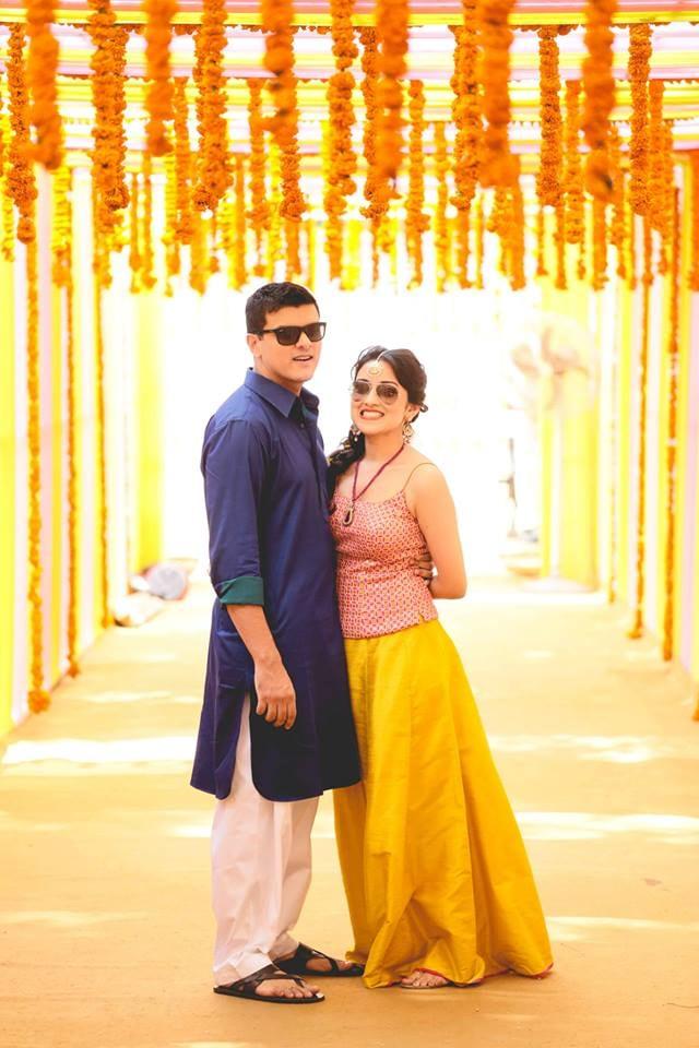 Couple Portrait On Haldi Day! by Arjun Mahajan Wedding-photography Groom-wear-and-accessories | Weddings Photos & Ideas