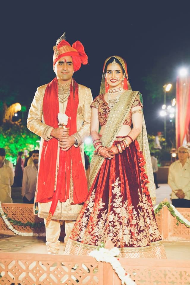 Stunning Couple Portrait On Wedding Day by Arjun Mahajan Wedding-photography Groom-wear-and-accessories Wedding-dresses | Weddings Photos & Ideas