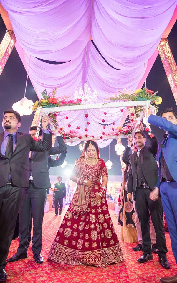 Red Shaded Bridal Lehenga by Saurabh Wedding-photography Wedding-dresses | Weddings Photos & Ideas
