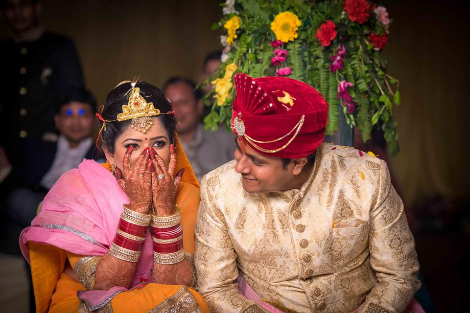 Ecstatic Couple On Their Special Day ! by Saurabh Wedding-photography Bridal-jewellery-and-accessories Groom-wear-and-accessories | Weddings Photos & Ideas