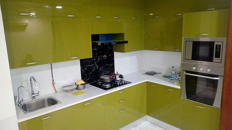L- shaped modular kitchen with toffee color cabinets by Interior Design Modular-kitchen | Interior Design Photos & Ideas