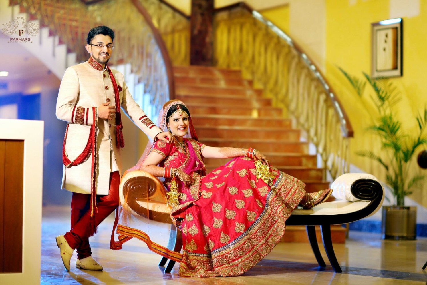 Wedding Portrait Of The Stunning Couple! by Rajan Parmar Wedding-photography Groom-wear-and-accessories Wedding-dresses | Weddings Photos & Ideas