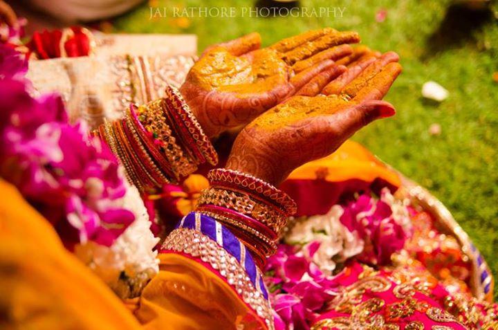 Splendid Sight Of Haldi ! by Jai Rathore Wedding-photography Bridal-jewellery-and-accessories | Weddings Photos & Ideas