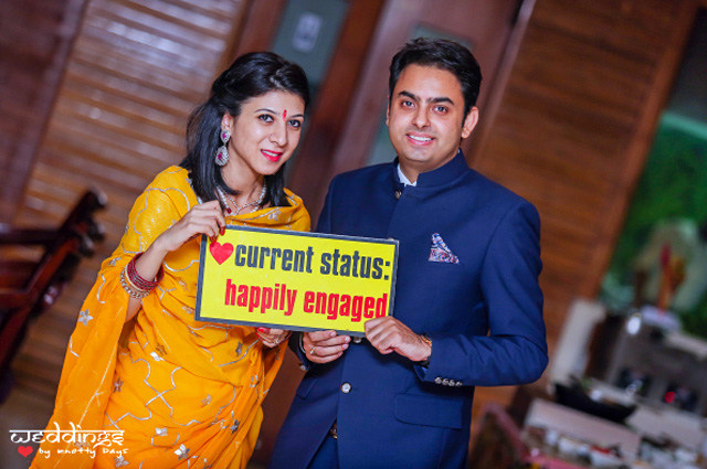 Happily Engaged Couple! by Nikhil Arora Wedding-photography | Weddings Photos & Ideas