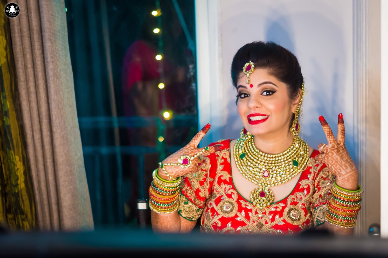 Gorgeous Bride In Red by Kunal Khanna Bridal-makeup Bridal-jewellery-and-accessories | Weddings Photos & Ideas