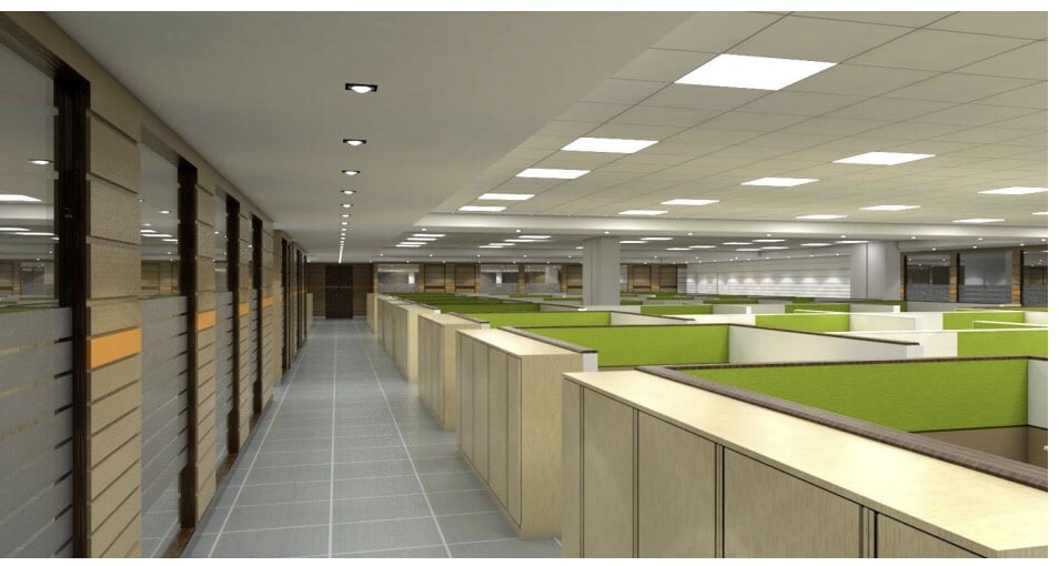 A modern hallway of an office! by Setu Design Studio | Interior Design Photos & Ideas