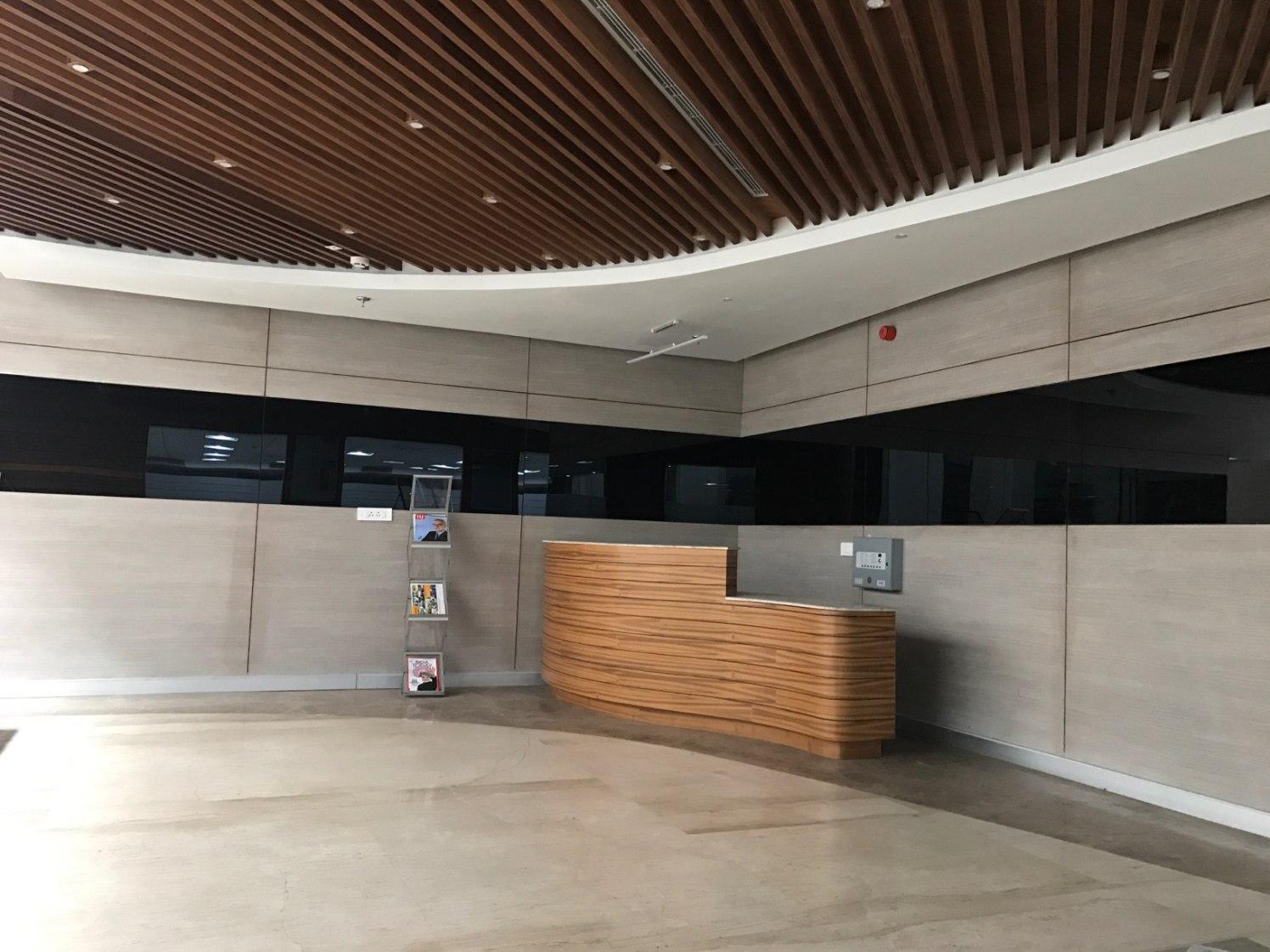 Contemporary Office Reception! by Setu Design Studio | Interior Design Photos & Ideas