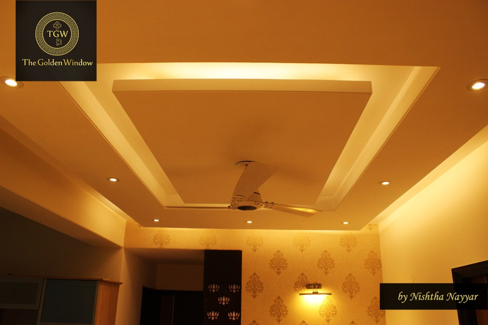 A contemporary false ceiling! by Chanana Enterprises Living-room | Interior Design Photos & Ideas