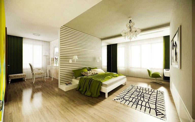 Sleek Bedroom Area by Aneja Developers Bedroom Contemporary | Interior Design Photos & Ideas
