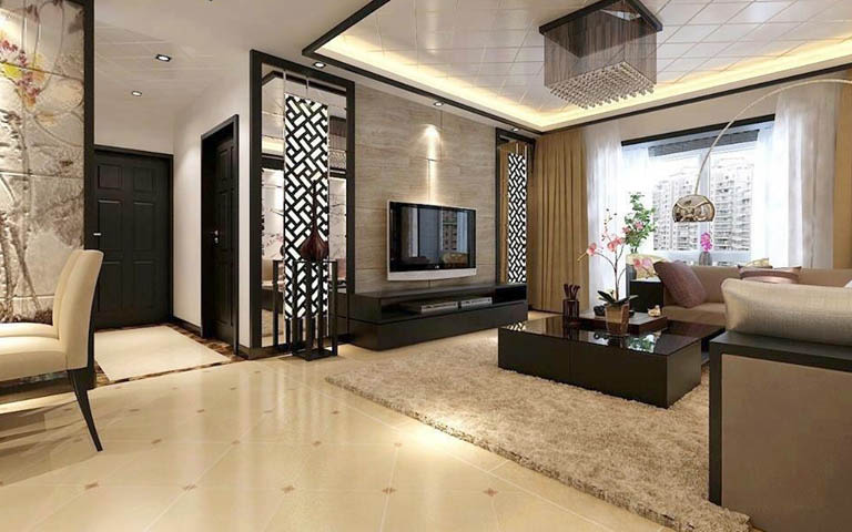 Living Room With Lavish Indoors by Aneja Developers Living-room Contemporary | Interior Design Photos & Ideas