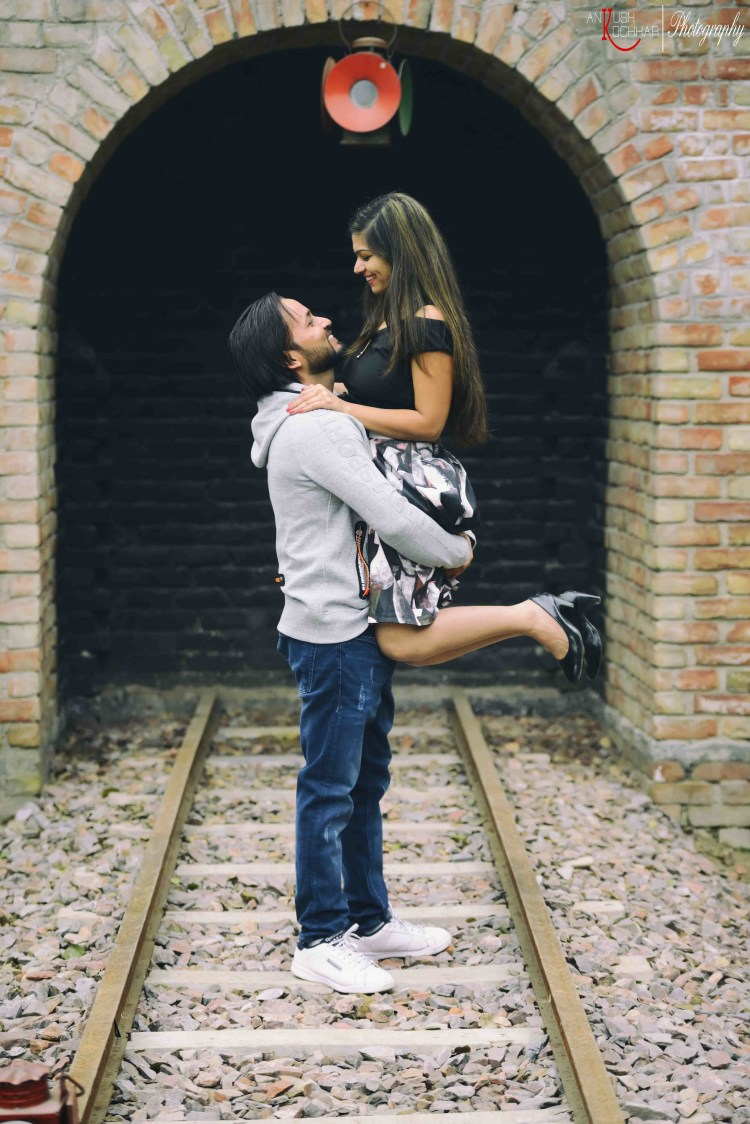 Pre-Wedding Shoot on Railway Track by AKfotography Wedding-photography | Weddings Photos & Ideas