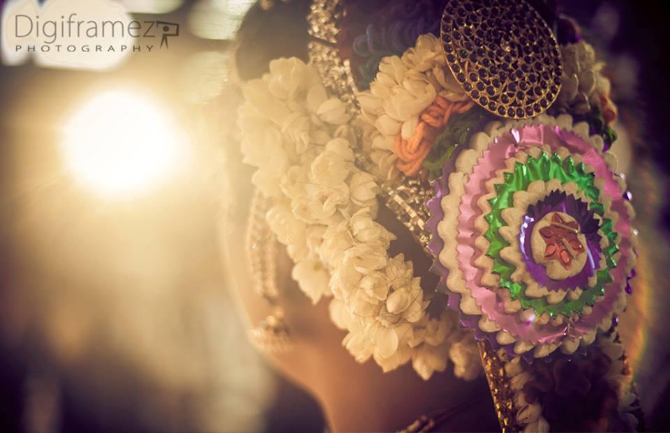 Unique gajra hairstyle ideas by Digiframez Photography Wedding-photography | Weddings Photos & Ideas