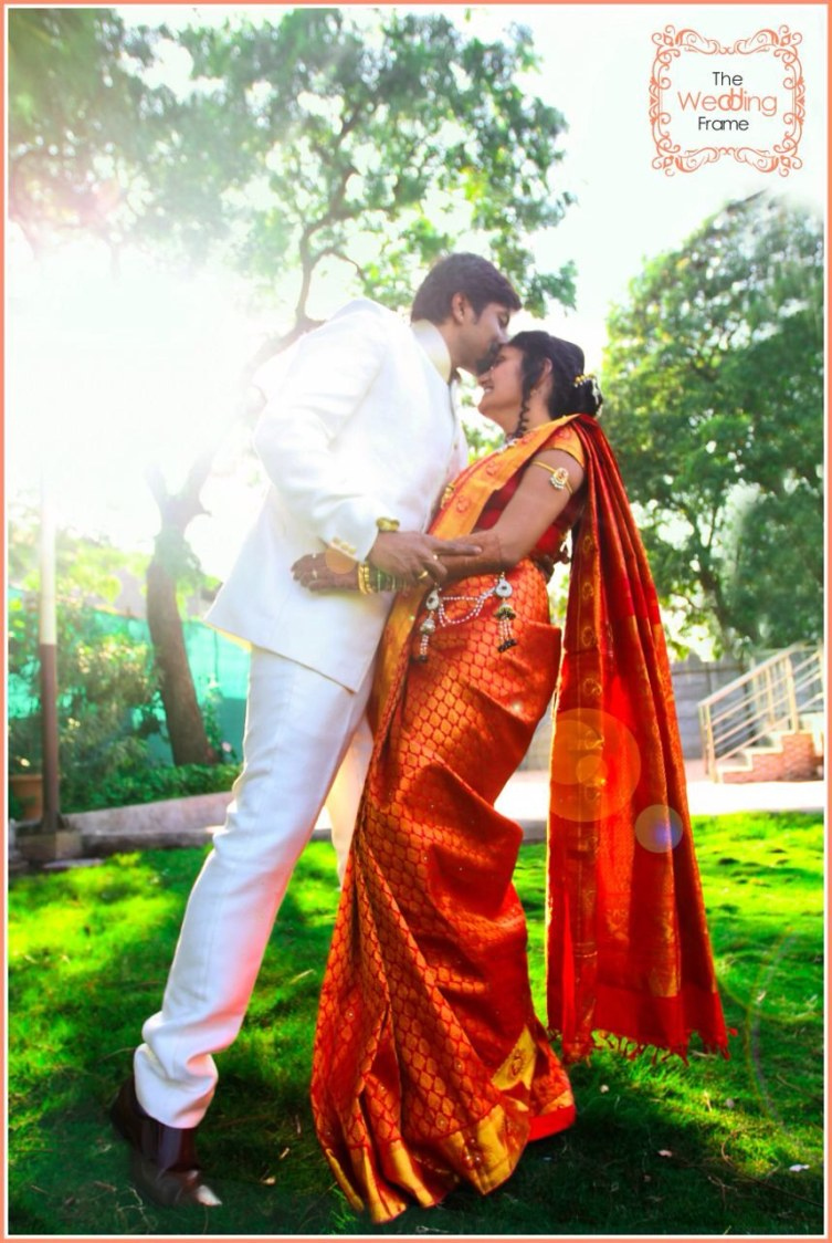 Romantic Bride and Groom Pose by The Wedding Frames Wedding-photography   Weddings Photos & Ideas
